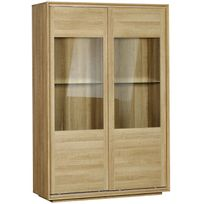 vitrine bois verre achat vitrine bois verre pas cher rue du commerce. Black Bedroom Furniture Sets. Home Design Ideas