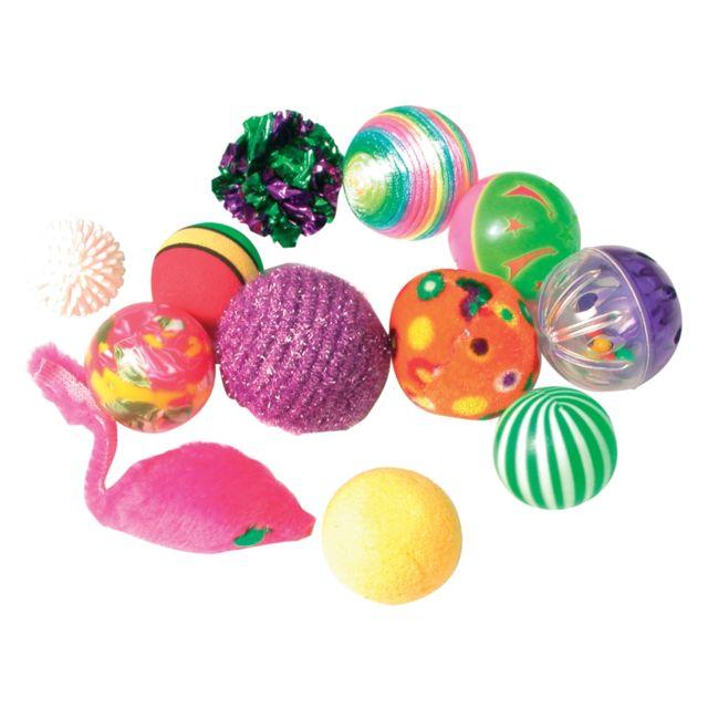 zolux jouet chat balles fantaisie x12 nc pas cher achat vente jouet pour chien rueducommerce. Black Bedroom Furniture Sets. Home Design Ideas