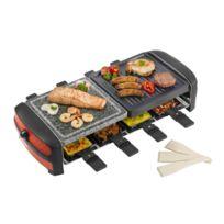 Bestron - Appareil à raclette / Grill / Pierre à griller design - Pour 8 personnes