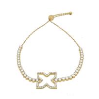 Alexandra Plata - Bracelet en argent sterling plaqué or jaune Taille réglable