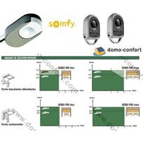 Somfy - Motorisation porte de garage Dexxo Pro 1000 io moteur seul+ téléco Keygo