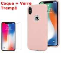 coque iphone xr silicone rose sable