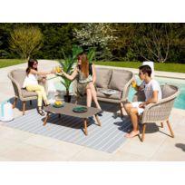 table jardin resine imitation bois - Achat table jardin resine ...