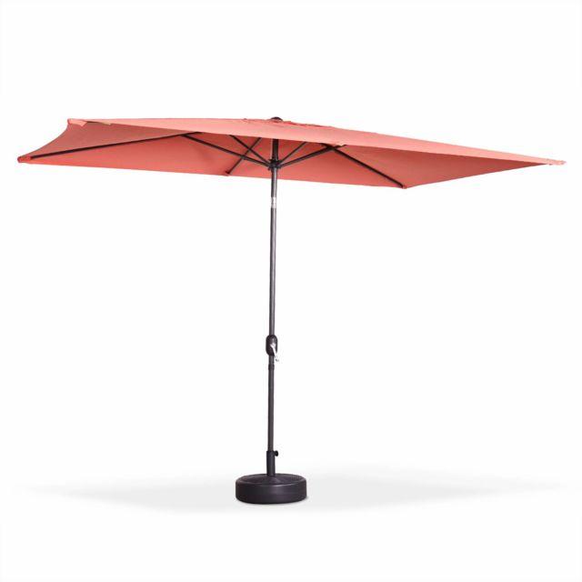 alice 39 s garden parasol droit rectangulaire 2x3m touquet p che m t central en aluminium. Black Bedroom Furniture Sets. Home Design Ideas