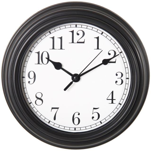 Promobo Horloge Pendule Mural Design Quartz Vintage Hall De Gare Noir