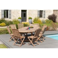 Salon jardin teck grade a - catalogue 2019 - [RueDuCommerce - Carrefour]