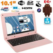 Yonis - Mini Pc Android 4.4 Netbook Ultra portable 10 pouces WiFi 8Go Rose