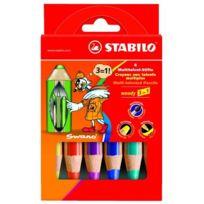 Stabilo - Woody 8806 Etui De 6 Crayons De Couleur Assortis