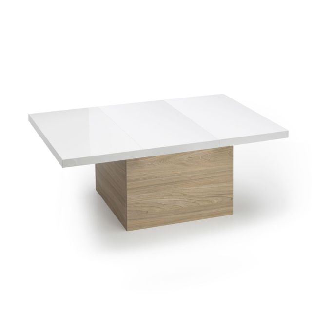 Table Basse Avec Rallonge.Alinea Arsene Table Basse Avec Plateau Coulissant Et
