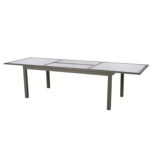 HESPERIDE - Table extensible rectangulaire Azua 8/12 places Taupe ...
