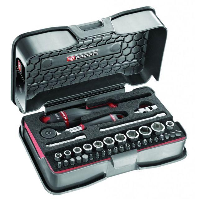 8cbb22d6923279 Facom - Clé à douille   Composition de 37 outils - R.161-6M6 - pas ...