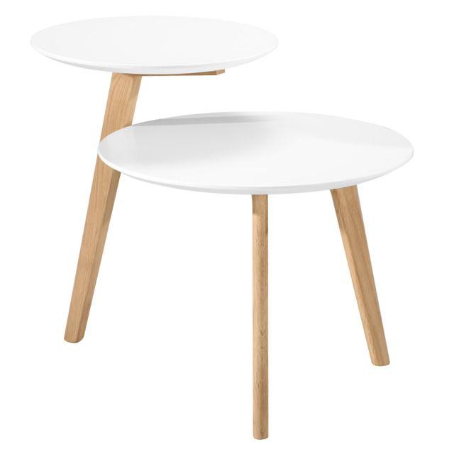 Rendez Vous Deco Table basse ronde Assak