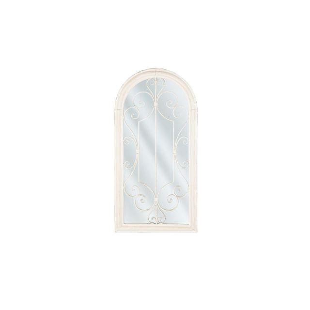 BELIANI Miroir blanc 50 x 98 cm CAMPEL - blanc