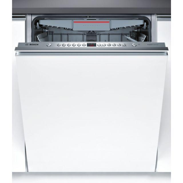 Bosch Lave-vaisselle SuperSilence - SMV46MX03E - Blanc Tiroir à couverts VarioFlex - 14 couverts - 44 dB - 6 Programmes - 3 options - Départ différé : 1-24h - Sécurité AquaStop 100% anti fuite - Triple filtre auto