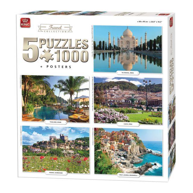 King Puzzles Puzzles de 1000 pièces : 5 puzzles : Voyages