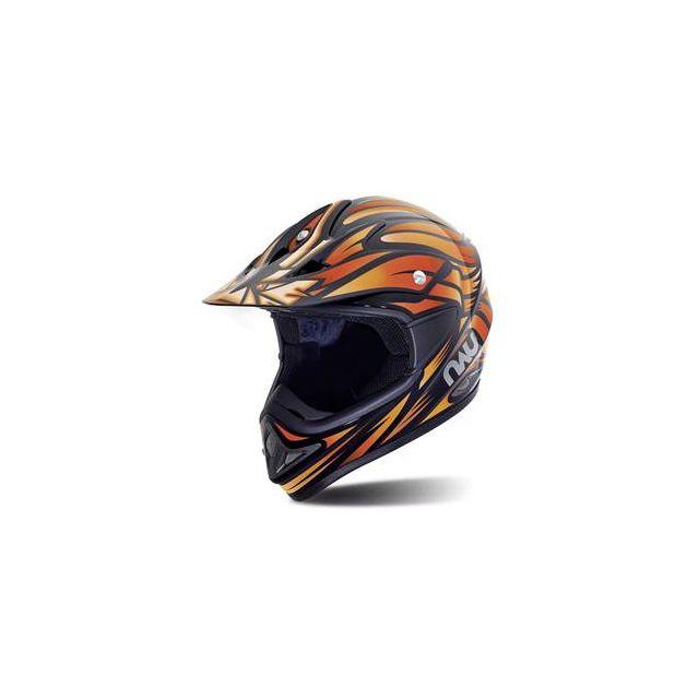 Nau Casque Moto Cross N45 Predator Noir Orange Taille Xs Pas