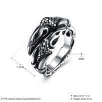 grand choix de 6e780 94428 Bague pour homme fashion forme serpent en acier - Taille 57