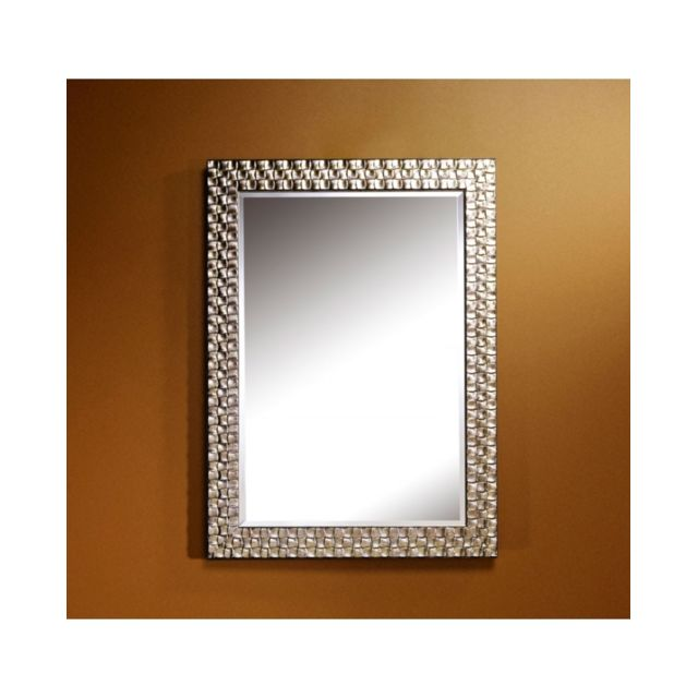 Deknudt Mirrors Miroir Almeria Silver Rectangle Traditionnel Classique Rectangulaire Argenté 71x98 cm
