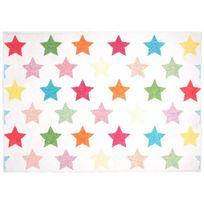 1 Pied Sur Terre - Tapis Holly Etoiles chambre fille par - Couleur - Multicolor, Taille - 120 / 170 cm