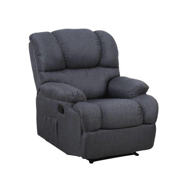 habitat et jardin fauteuil relax dublin gris nc pas cher achat vente si ges et fauteuils. Black Bedroom Furniture Sets. Home Design Ideas