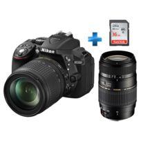 NIKON - Pack Amateur D5300 + Objectif 18-105mm VR + Objectif Tamron 70-300mm + Carte mémoire 16G