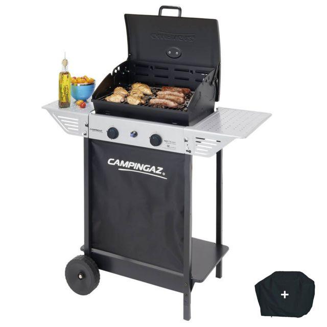 CAMPINGAZ Barbecue gaz XPERT100L+ Rocky Cuisson pierre de lave cuisson 44 x 34 cm 2 tablettes latérales + housse offerte