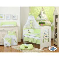 Autre - Lit et parure de lit bébé âne vert ciel de lit mousseline 120 60