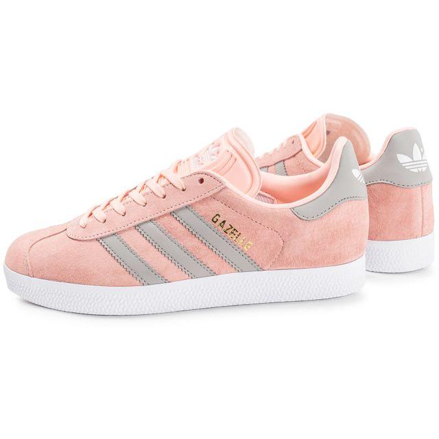 Adidas originals - Gazelle W Corail Rose - 38 - pas cher Achat / Vente Baskets femme - RueDuCommerce