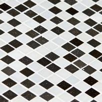 Capri - Mosaïque Basalt et Blanc de Carrare noire et blanche