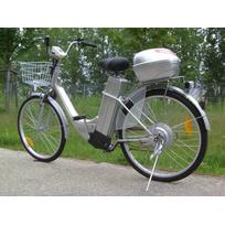 Vélo électrique grande autonomie 25 km/h Gris clair
