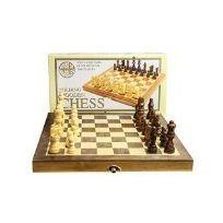 House Of Marbles - Jeu D'ECHECS En Bois Pliant VERSION Anglaise, FOLDING Wooden Chess Set