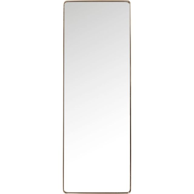 Karedesign Miroir Curve rectangulaire cuivre 200x70cm Kare Design