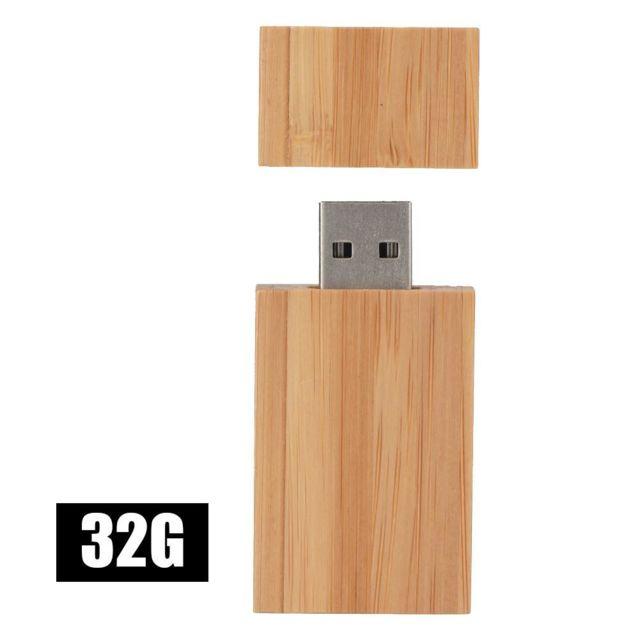 16 Go Mini Clé USB Clef Mémoire Flash U Disque USB 2.0 Bois Nature