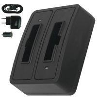 mtb more energy® - Double Chargeur USB/Auto/Secteur, Ba-300 pour Sennheiser Ri 410 IS 410 Ri 830 Set 830 Tv Ri 830-S, Ri 840 Set 840 Tv Ri 900, Rr 4200 v. liste