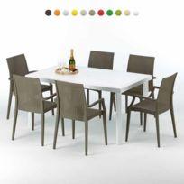 Colorée Rectangulaire Et Table Chaises 6 SzUqMVGLp