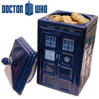 Kas Design - Boîte à Gâteaux Céramique Tardis Docteur Who, Cadeau Geek Design