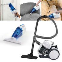 Domoclip - Nettoyeur vitre aspirateur 3 en 1 + Aspirateur multi-cyclonique sans sac blanc