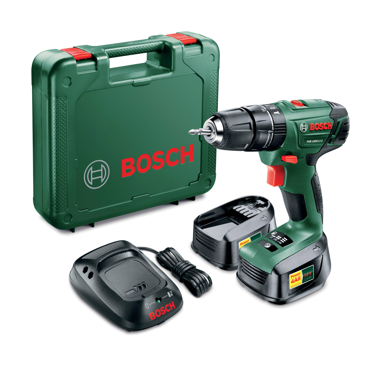Coffret perceuse visseuse, percussion 18 V + 2 batteries - 06039A3301