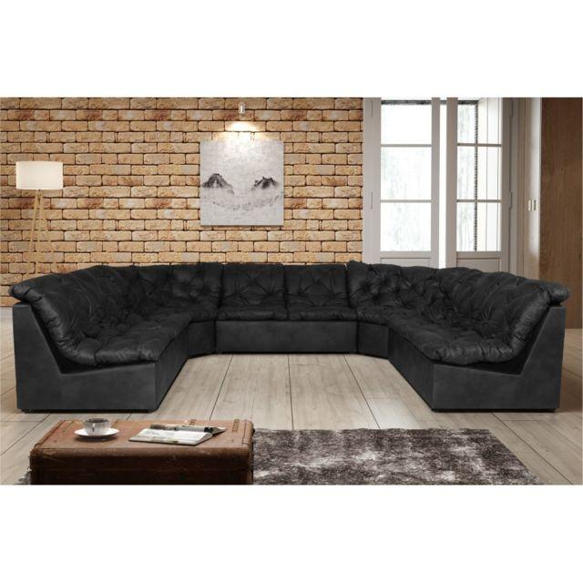 Rocambolesk Canapé Clac Lux 2A2A2 Tobago 17 antracite sofa divan
