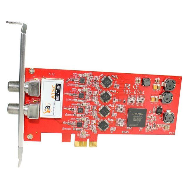 TBS TBS6704 Carte PCIe Quad Tuner ATSC - Clear QAM - 8VSB - 4 tuners pour la TV HD - ATSC/ Clear QAM / 8VSB Quad Tuner PCIe
