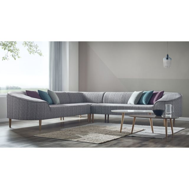 bobochic canape d 39 angle panoramique 6 places bar a bleu canard bleu canard fuchsia blanc. Black Bedroom Furniture Sets. Home Design Ideas