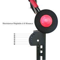 HOMCOM - Appareil de Fitness et musculation pour abdominaux écran multi-fonction intégré pliable noir rouge neuf 03