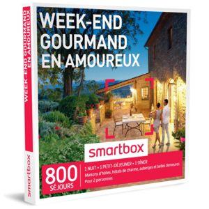 smartbox week end gourmand en amoureux coffret cadeau pas cher achat vente coffret. Black Bedroom Furniture Sets. Home Design Ideas