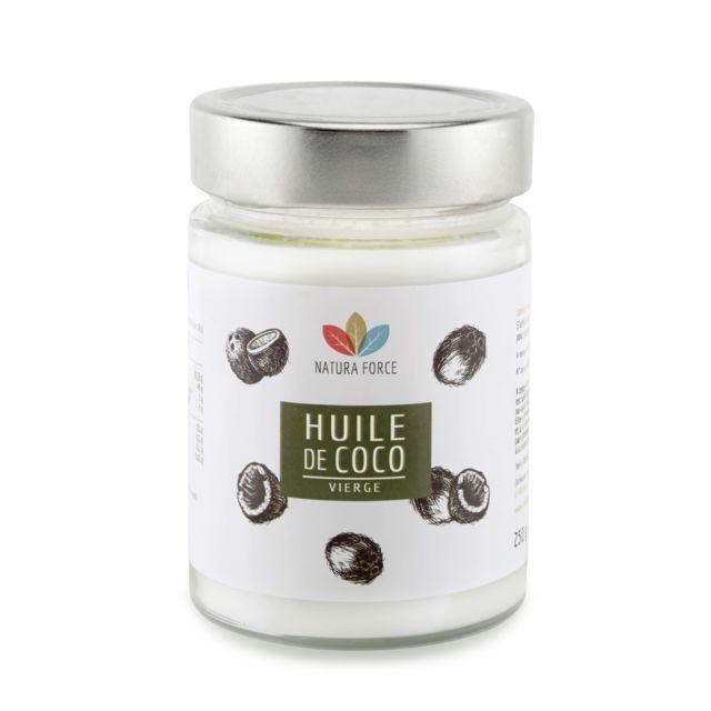 natura force huile de coco bio 250g pas cher achat vente peau cheveux et ongles. Black Bedroom Furniture Sets. Home Design Ideas
