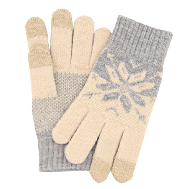 3499ea9988aa Wewoo - Gants tactiles pour iPad les femmes laine trois doigts écran tactile
