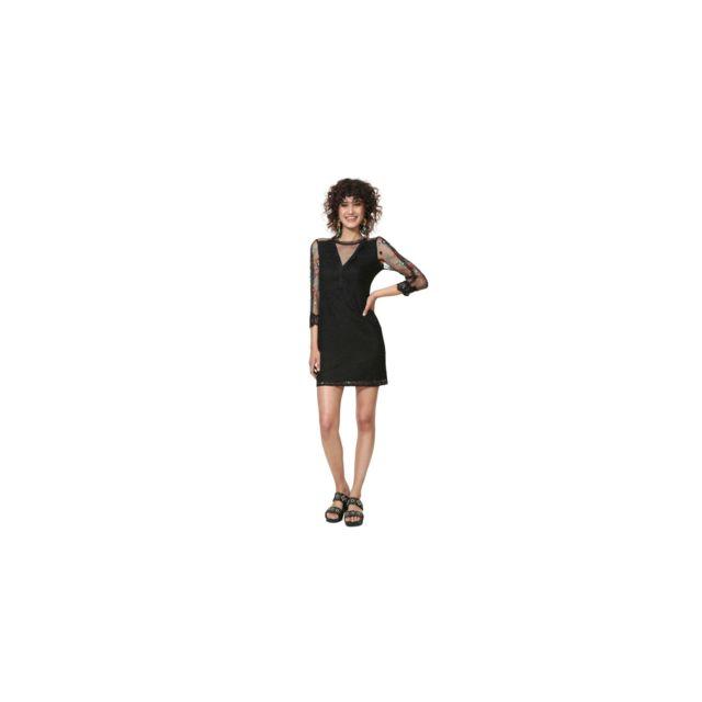 Desigual Robe Mariella Noir 19swvw42 Taille 46 Pas Cher Achat Vente Robes Rueducommerce