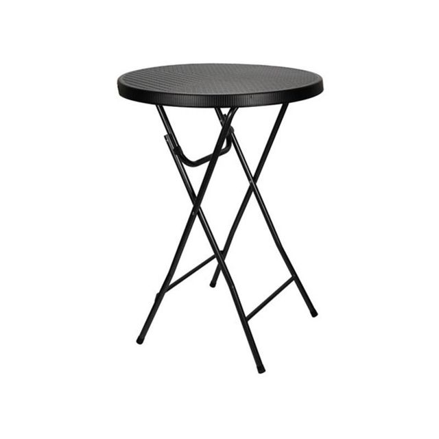 Perel Table Pliante - Imitation Rotin - Ø 80 X 110 Cm