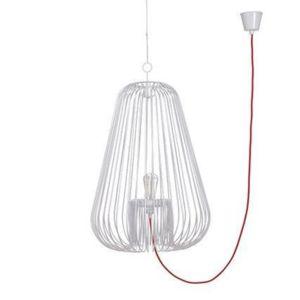 pop corn light cage suspension blanc h40cm suspension design par jocelyn deris pas cher. Black Bedroom Furniture Sets. Home Design Ideas