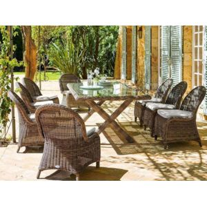 hesperide salon de jardin repas en r sine tress e betong 1 pas cher achat vente ensembles. Black Bedroom Furniture Sets. Home Design Ideas