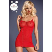 Obsessive - D202 Robe fines bretelles - Rouge - Sm